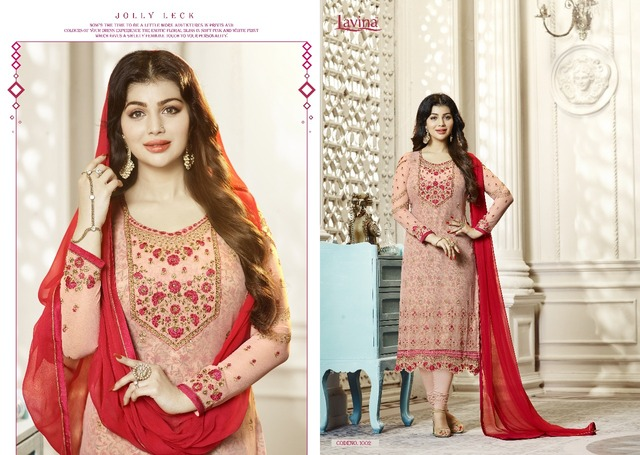 4d7274783 LAVINA Indian Pakistan Women s Churidar Salwar Kameez Designer Flower  Embroidery Dress Set Bollywood Ethnic Party Dress 364.6 ₪. 1001 size 42.  1002 size 42