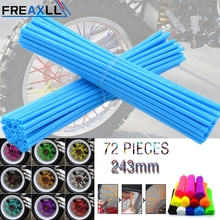 72Pcs/Pack Off-road Bike Wheel spoke skins Colorful Motocross Rims Skins Covers For KTM 350 SX-F EXC 450 500 XC-W MXC XC XCw