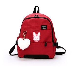 Image 2 - Oyun OW DVA Harajuku Naylon Sırt Çantası Kadın seyahat sırt çantaları Şık okul öğrenci çantası Paketi Genç Laptop Omuz Seyahat Çantaları