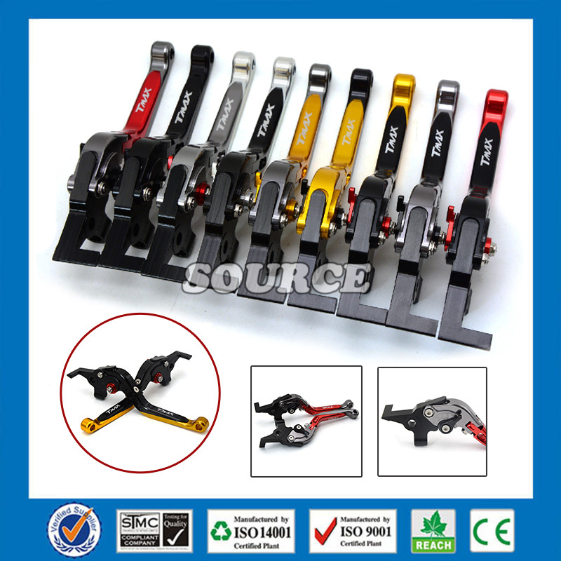 ФОТО CNC Motorcycle adjustable Motorbike Brake Clutch Lever for yamaha t-max 530 t-max500 tmax 530 tmax500  free shipping