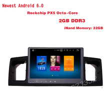 Qcta core Android 6.0 Car GPS stereo for toyota corolla E120 with 1024*600screen 2Gb Ram bluetooth Mirror Link radio 4G WIFI USB