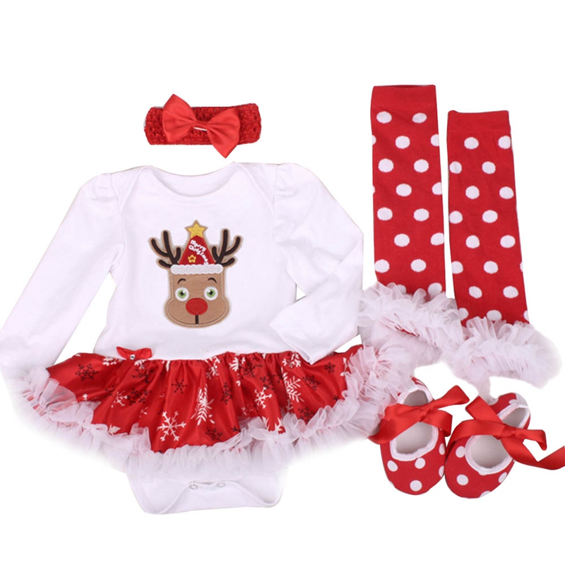 Baby Girl Clothing Sets Infant Outfits Sets Bebes Tutu Romper Shoes DressJumpersuit Christmas Birthday Costume Vestidos