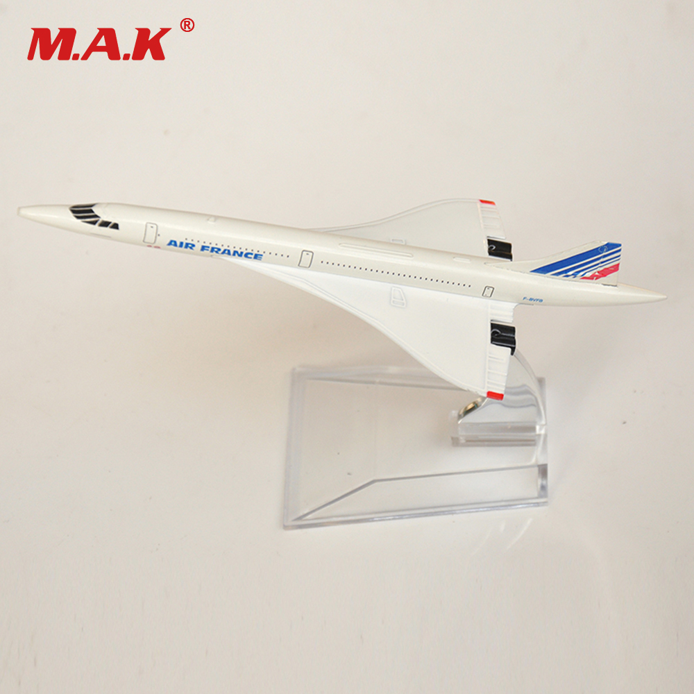 1/400 Scale Concorde Air France Diecast Plane Model Toys for Collectible Diecast Airplane Aircraft Alloy Model Kid Children Gift image