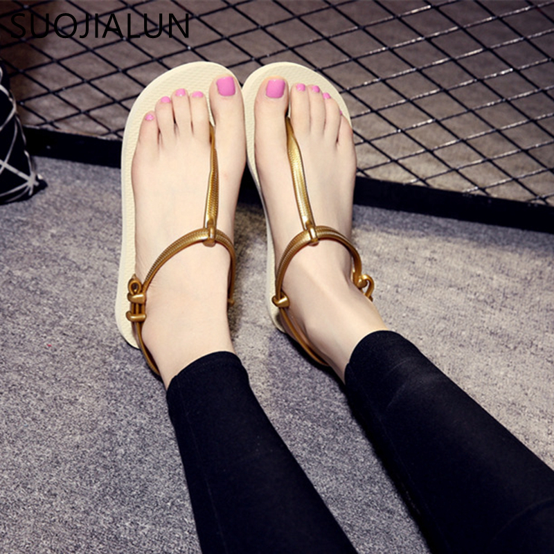 9b9a130a8 SUOJIALUN Women Sandals 2019 Summer Bohemia Comfortable Ladies Shoes ...
