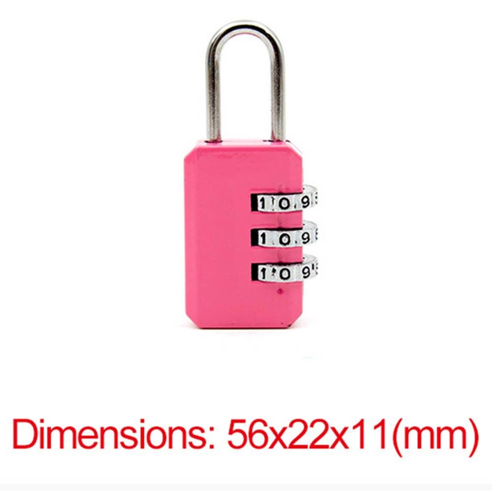 Conjunto de 3 Mini cerradura de combinaci/ón Seguridad para sus maletas y bolsas.