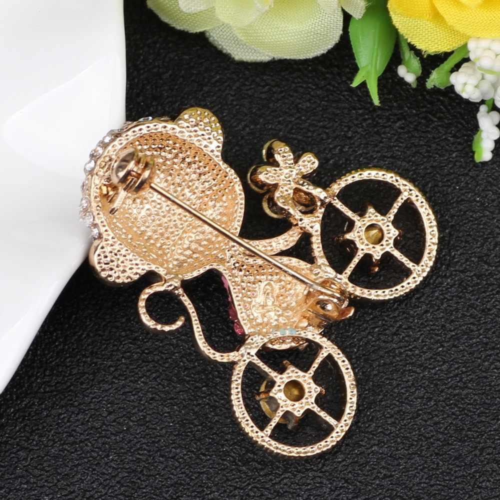 WEVENI broche de mono de Metal de cristal para mujer broches de fiesta Pin para Collar traje bufanda decoración 2017 Nueva joyería Animal de moda