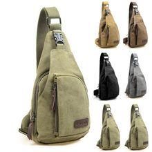 Фирменная Новинка Мужская винтажная холщовая кожаная сумка через плечо, нагрудная сумка