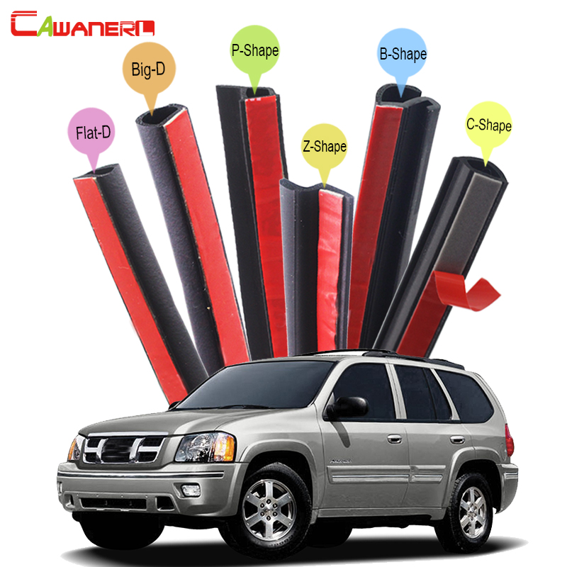 Cawanerl Full Car Seal Sealing Strip Kit Rubber Weatherstrip Seal Edge Trim For Isuzu Ascender Axiom Oasis Rodeo Trooper