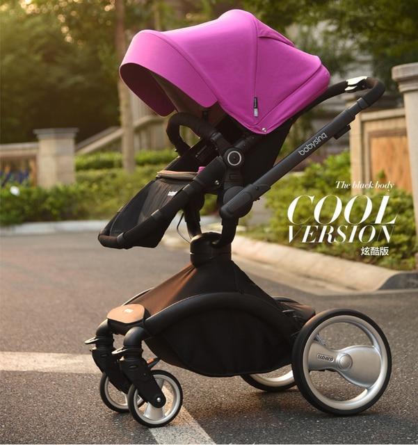 Baby Stroller Carrinho Alta Paisaje De Bebe Prams Poussette Baby Strollers Hadnd De Bebe Bebek Arabas Luxury pokemon 6 Color