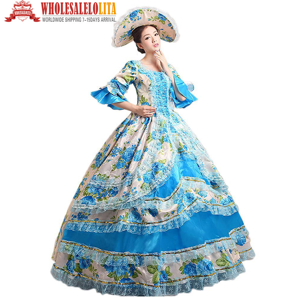Gothic Women\'s Prom Victorian Fancy Masquerade Dresses Brocade ...
