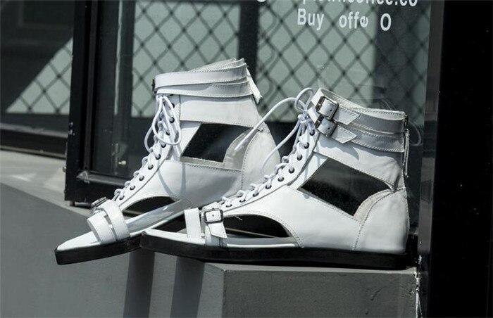Cuero De Lace Para Punta Inferior Abierta Decoración Moda Zapatos Beige Sandalias Nueva Hombre Diarios Romanos negro Hebilla Esenciales up 4qYF1W0w