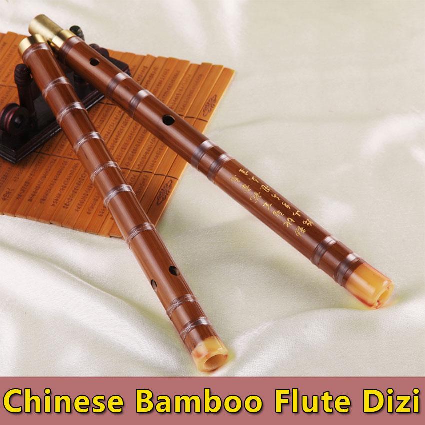 Chino tradicional flauta de bambú Dizi Transever Bambu Flauta Folk - Instrumentos musicales
