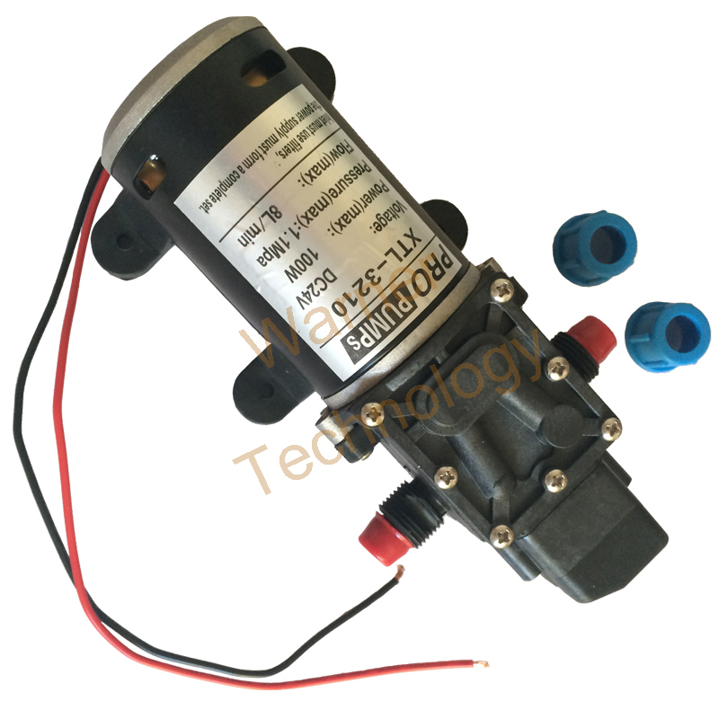 High pressure water pump Micro electric diaphragm pump 3210YB 24V 100W  8L/Min 1 1MPa High pressure Large flow Self Priming pump-in Pumps from Home