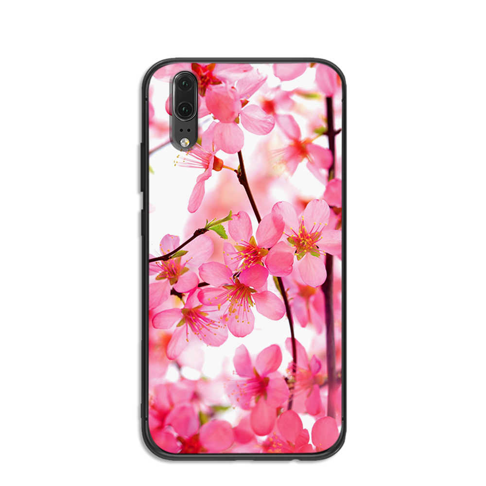 Beautiful beautiful bright flowers soft phone for Huawei P8 P9 P10 P20 P30 Lite Pro P Smart 2016 2019 TPU Soft Silicone
