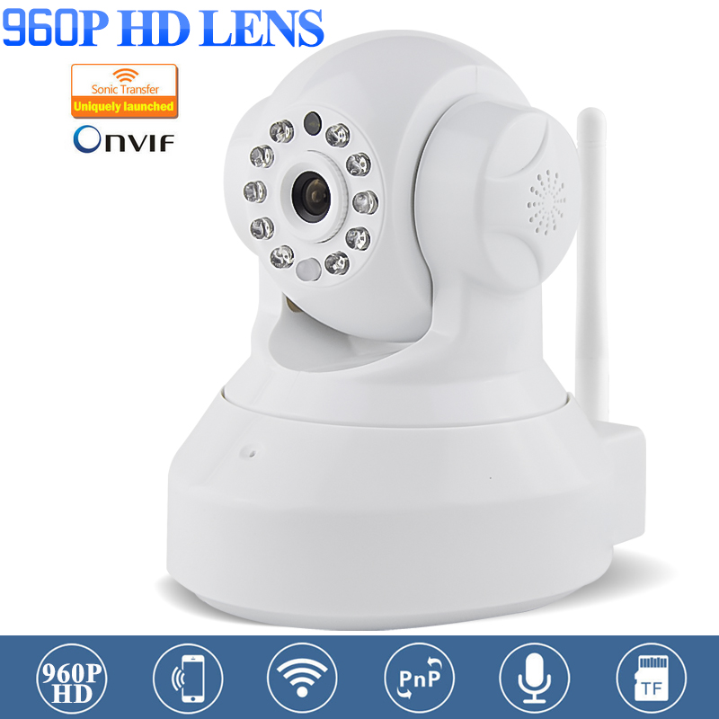 New White 960P HD CCTV Wifi IP Camera IOS Android APP Remote Control IR-cut Night Vision Wireless HD P2P Security Camera bc 883m mirror bulb lamp camera hd 960p wifi ap hd 960p ip network camera with real light remote control 2017 new arrival