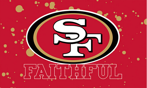 3X5FT NFL San Francisco 49ers spot flag banner metal Grommets Free Shipping custom flag 100D Digital Print