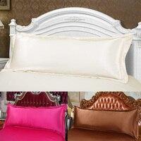 100% Double Face Silk Pillow Case Silk Long Pillowcase White Back Side Open Pillow Cover Boby Pillowcase long Pillowsilp