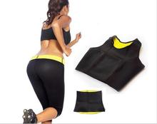 ( Pants + vest + waistband ) HOT Selling Super stretch neoprene Shapers clothing set Women's Slimming Clothing Sets