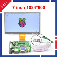 7 Inch LCD Panel Digital LCD Screen And Drive Board HDMI VGA 2AV For Raspberry PI