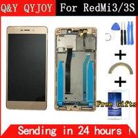 テスト済み液晶デジタイザ用xiaomi redmi 3 s lcdディスプレイタッチスクリーンフレームアセンブリのためxiaomi redmi 3プロ/3 sプロ交換部品