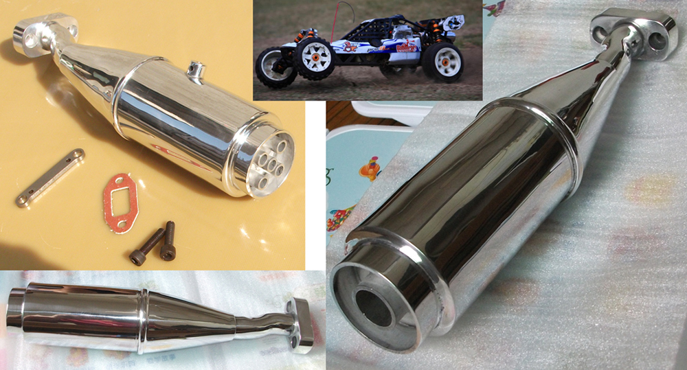 RC car 1:5 Baja 5B/5bss Silver Rocket Exhaust Joint tubing 1/5 HPI 15005S