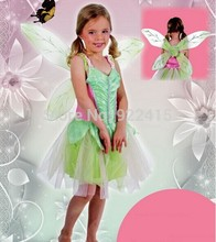 2016 New baby girls carnival  rainbow Dress Cosplay Costume Party Tinker Bell Princess