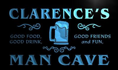 x0094-tm Clarences Man Cave Game Room Custom Personalized Name Neon Sign Wholesale Dropshipping On/Off Switch 7 Colors DHL