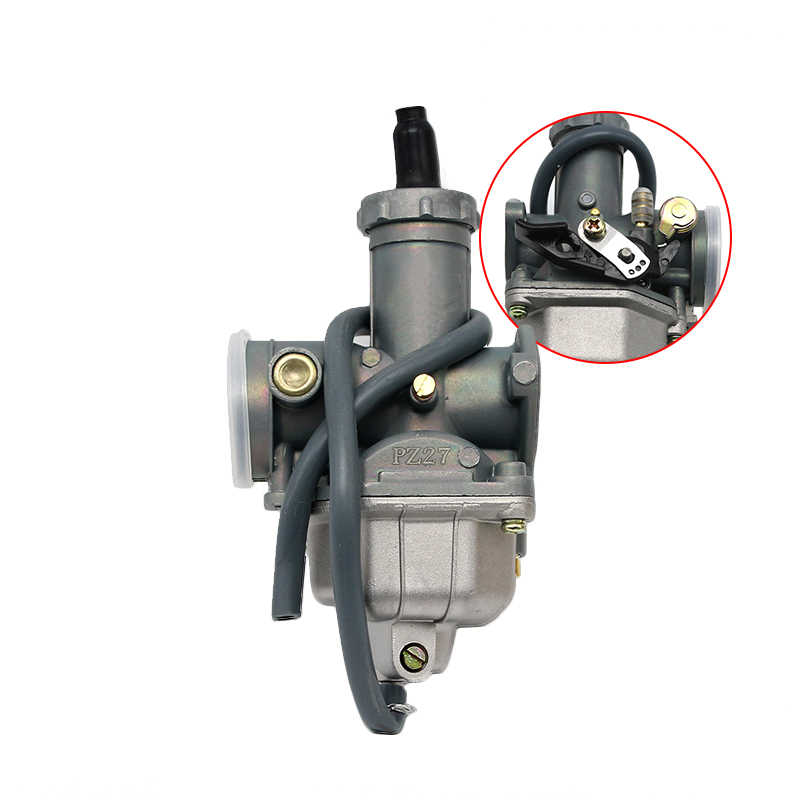Alconstar- Manual Damper Motorcycle Carburetor KEIHIN PZ26 PZ27 PZ30  Carburetor for CG125 CG150 CG200 TTR250 and Other Motorbike