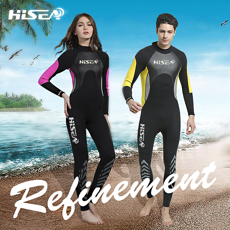 ФОТО Hisea 3MM Neoprene Wetsuit One-piece Diving Suit Warm Airtight Jellyfish Snorkelling Surfing Surf Scuba Diving Suit