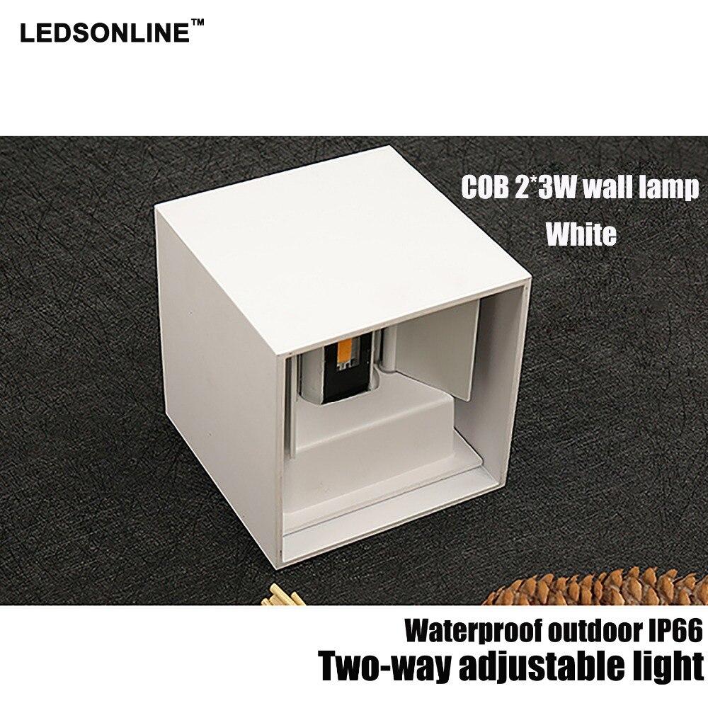 Ny 120-graders vattentät kub COB LED-lampa Vägglampa Moderna - Inomhusbelysning - Foto 4