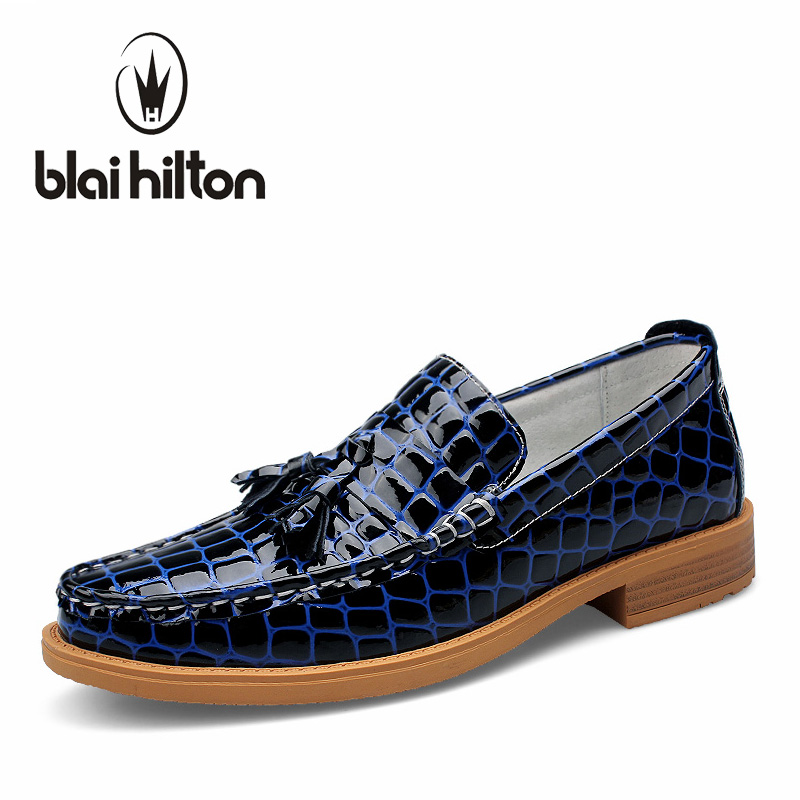 Blaibilton Slip On Formal Shoes Luxury Genuine Leather Loafers Men Shoes Dress Oxfords Fashion Mens Shoes Casual Boat Moccasins top quality crocodile grain black oxfords mens dress shoes genuine leather business shoes mens formal wedding shoes