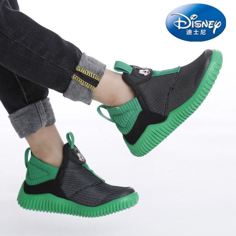 Disney chaussures décontractées garçons respirant baskets enfants jongens schoenen sans lacet tenis chaussures de course enfants chaussures antidérapantes