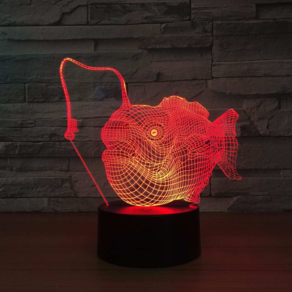 Creative Shark Fish Lovely Night Light 3D Lights Children Decorate - Night Lights - Photo 4