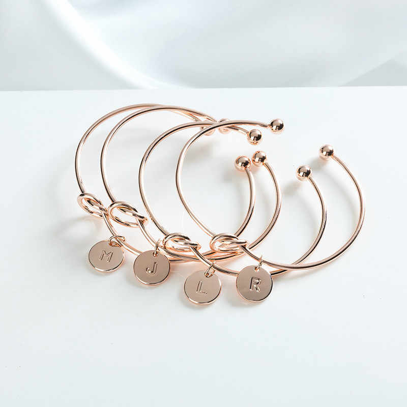 1 Pcs Sell A-T Fashion ID Bracelets Rose Gold/Silver Alloy Letter Snake Chain Charm Bracelet Female Personality Jewelry