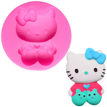 Lovely Cat Soap Mold Lollipop Cake Tools Decorating Silicone Chocolate Baking For Cakes Muffin Lace A452241