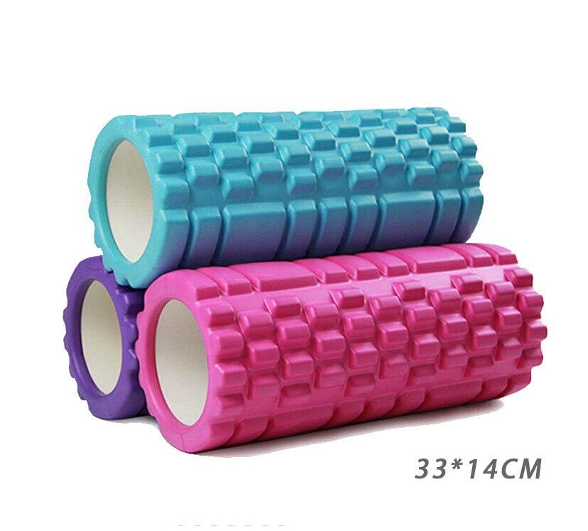 33*14CM Yoga Foam Roller Training Colume Rollor Bricks Pilates Body Building Back Massager Fitness Exercise Yoga Block