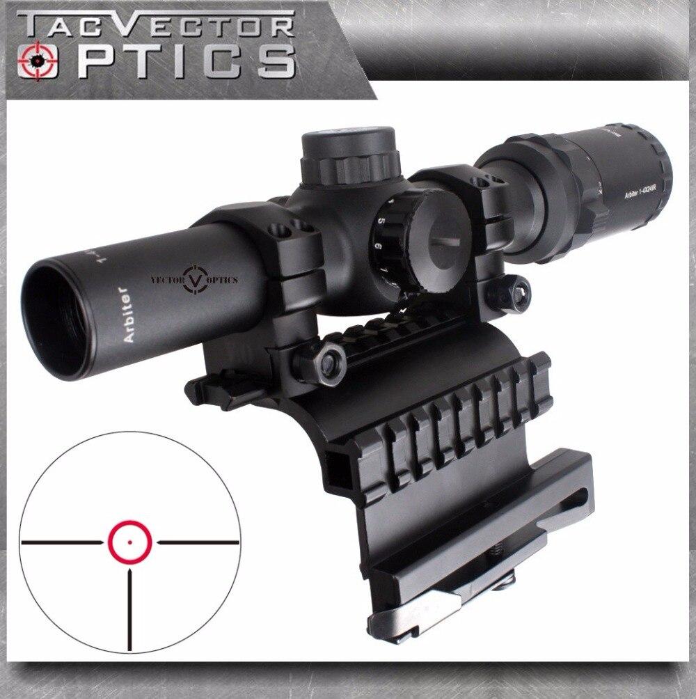 Optique vectorielle AK 47 74 1-4x 24mm tactique vraie arme à feu claire portée de fusil avec QD côté lunette de visée monture ajustement AK47 AK74 SVD fusils
