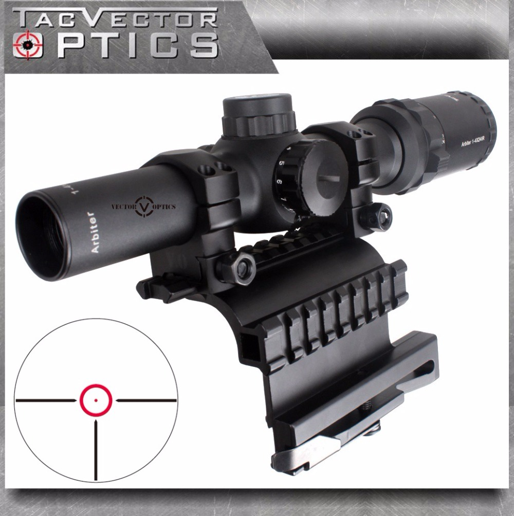 Vector Optics AK 47 74 1-4x 24mm Tactical Real Firearm Clear Rifle Scope with QD Side Riflescope Mount fit AK47 AK74 SVD Rifles vector optics mini 1x20 tactical 3 moa red dot scope holographic sight with quick release mount fit for ak 47 7 62 ar 15 5 56