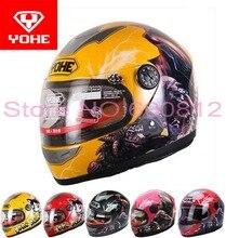 Мода YOHE дети мотоциклетный шлем ребенок анфас электрический велосипед шлемы, изготовленные из ABS мотоцикл YH959S СВОБОДНЫЙ Размер L