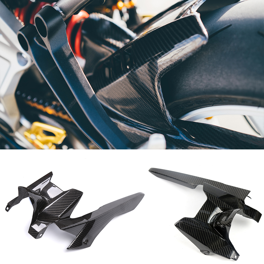 Motorcycle Accessories Carbon Fiber Rear Tire Hugger Fender Mudguard Chain Guard Protector Cover For Yamaha MT07 FZ07 2013-2017