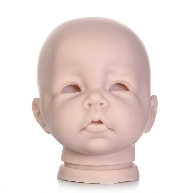 Половина силикона тела reborn куклы наборы и ткань тела DIY Неокрашенная кукла части нежное касание младенцев Bebe кукла набор пресс-форма, принадлежности