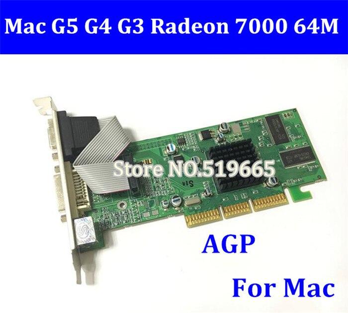 Free Shipping 100% Original for Mac G3 G4 G5 Graphic Card NEW Radeon 7000 AGP 64MB Video Card DVI VGA TV-Out dhl ems free shipping 50pcs lot new nvidia geforce fx5500 256m agp dvi vga graphic video card high quality