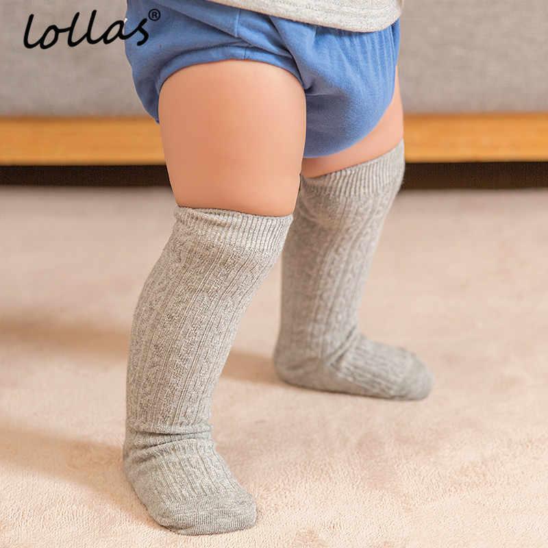 de7f1c37b Lollas 0-4 Years Cute Baby Knee Socks Newborn Infant Baby Cotton Knee High  Socks