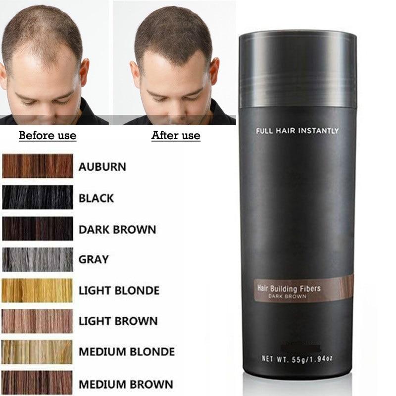 Beliebte Marke 27,5g Haarausfall Concealer Mixer Salon Schönheit Haar Gebäude Faser Keratin Haar Styling Tonic Färbung Pulver