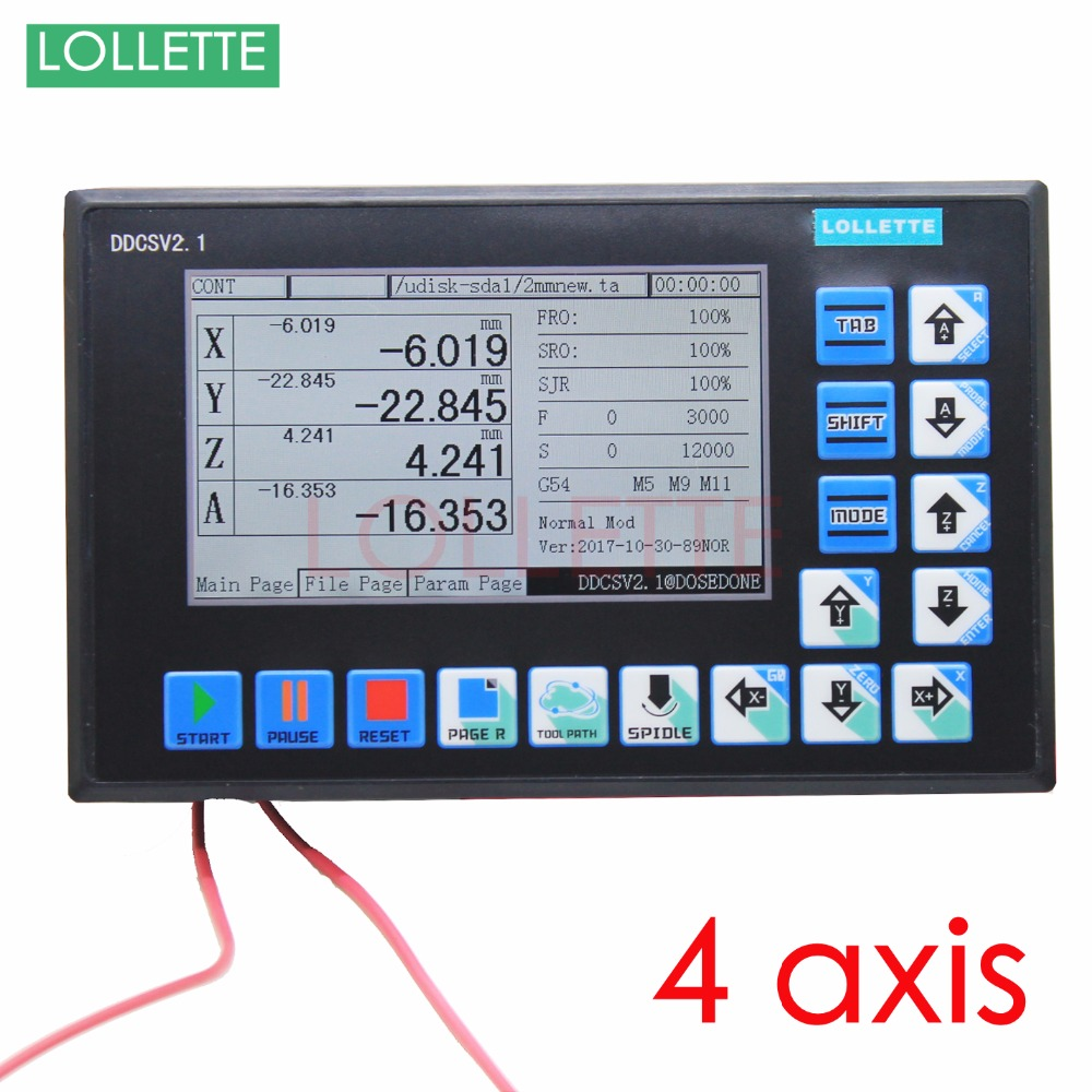4 Assi Offline Stand Alone Sostituire USB Mach3 Router Incisione Drilling Fresatrice CNC Controller Del Motore passo a passo servo motor
