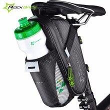 Rockbros bicicleta saddle bag impermeable bolsillo botella de agua mtb bike rear pannier bolsa de ciclismo bolsa de cola asiento trasero accesorios para bicicletas