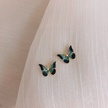 MENGJIQIAO New Korean Elegant Cute Butterfly Stud Earrings For Women Girls Simeple Lovely Boucle D oreille.jpg 350x350 - MENGJIQIAO New Korean Elegant Cute Butterfly Stud Earrings For Women Girls Simeple Lovely Boucle D'oreille Gifts