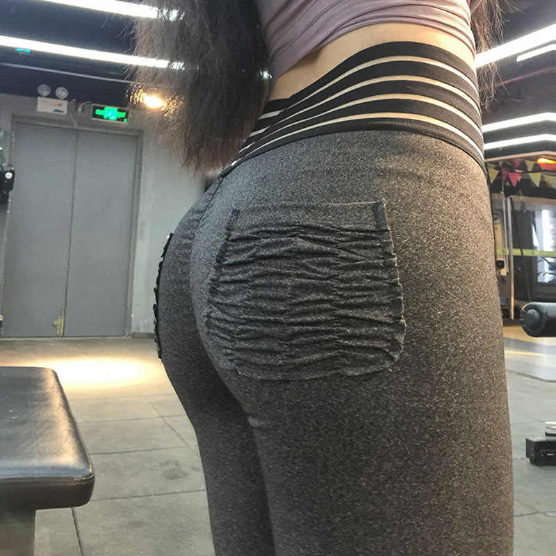 eae4478b8bb47 Detail Feedback Questions about Women Fitness Push Up Leggings High Waist  Elastic Workout Legging Pants 2019 Fashion New Female Pocket Leggings Plus  Size on ...