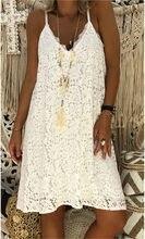 Robe en dentelle Blanche Robe à bretelles Spaghetti décontracté grande taille 5xl 4xl Xxxxl Xxxxxl femmes été rose noir Sukienki Robe Blanche