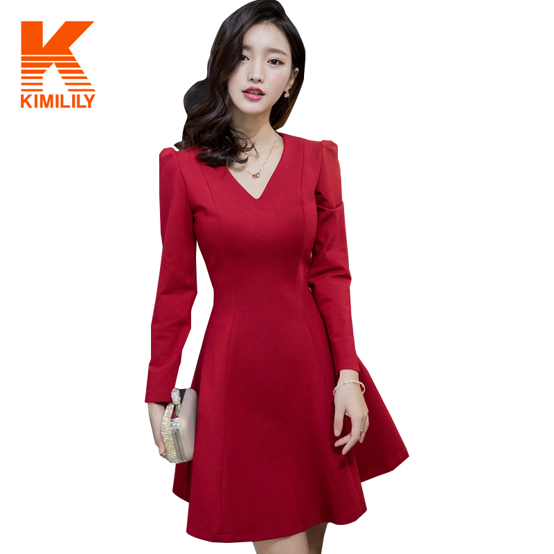 Online Get Cheap Long Sleeve Red Dresses -Aliexpress.com  Alibaba ...